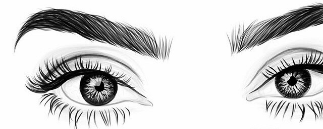 Simple Drawing Eye Lashes